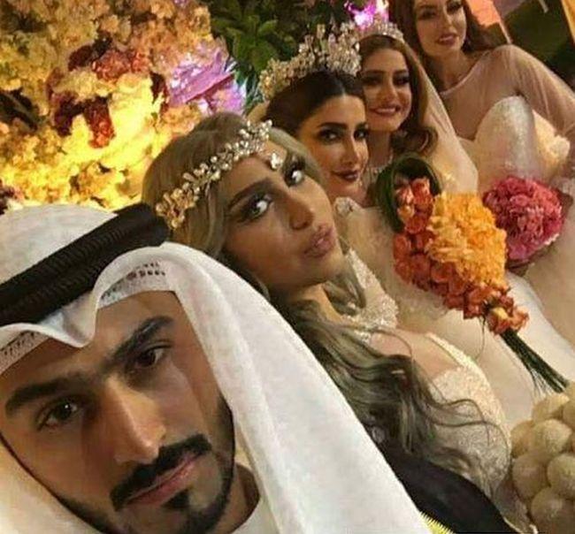женился сразу на четырех девушках